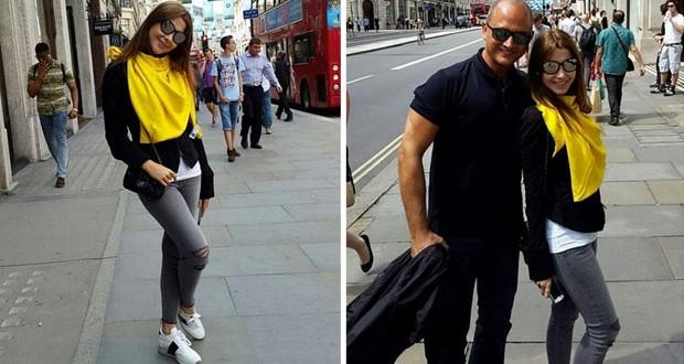 بالصور: نانسي عجرم تمضي أجمل الأوقات في لندن مع زوجها وتسرق الأنظار بأناقتها