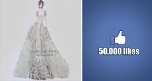 لميا أبي نادر تتألق على فيسبوك و50 ألف شخص يتابعون تصاميمها