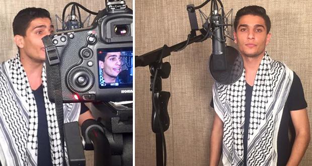 محمد عساف دخل الإستوديو بالكوفية
