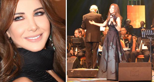 الاسكندرية رقصت فرحا ونانسي عجرم نثرت فنا على أعرق مسارحها