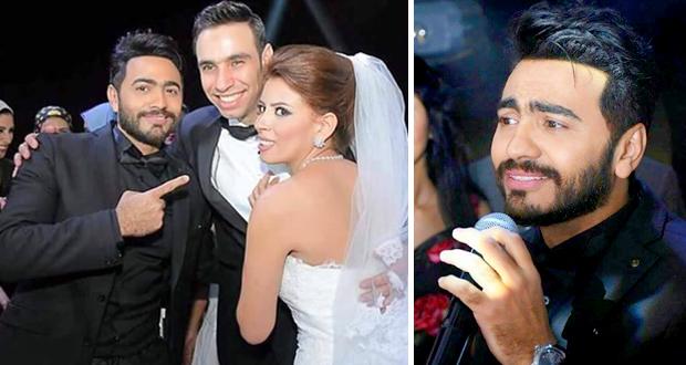 تامر حسني أحيا زفاف أحمد الشامي وغنى حتى الصباح