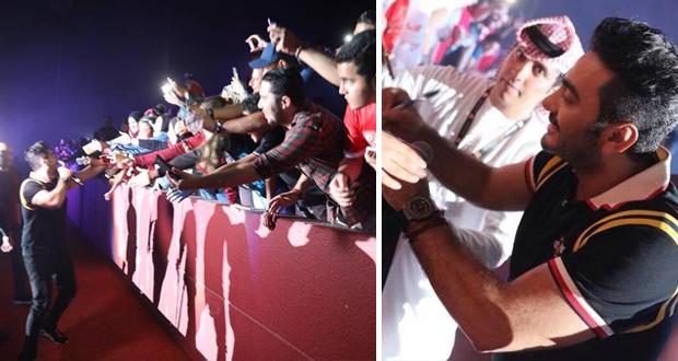 الآلاف هتفوا باسمه.. تامر حسني توّج اليوبيل الذهبي لنادي الفجيرة وأشعل الأجواء