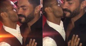 قبلة ساخنة بين محمد رمضان وخالد سليم!
