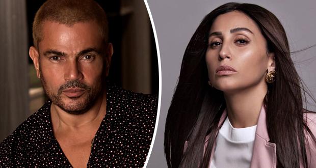هل عادت العلاقة العاطفية بين عمرو دياب ودينا الشربيني بعد انفصالهما؟
